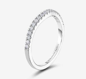 Adrianna Papell Diamond Wedding Band 1/5 Ct Tw 14K White Gold In White Gold