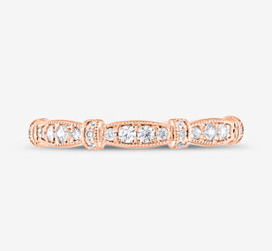 Adrianna Papell Diamond Anniversary Band 1/5 Ct Tw 14K Rose Gold In Rose Gold