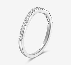Adrianna Papell 1/8 Ctw Diamond Wedding Band In White Gold