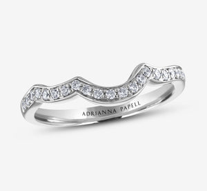 Adrianna Papell Diamond 1/5 Ctw Wedding Band In White Gold