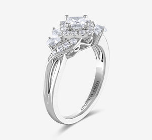 Adrianna Papell Diamond 1 Ctw Engagement Ring In White Gold