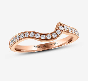 Adrianna Papell Diamond Wedding Band 1/4 Ctw In Rose Gold