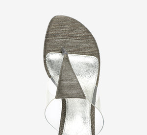 Choir Block Heel In Antique Silver
