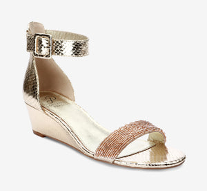 Evie Wedge In Platino Gold
