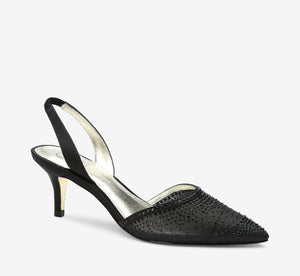 Hanah Sling Back Heel With Crystals In Black