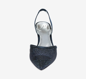 Hanah Sling Back Heel With Crystals In Navy