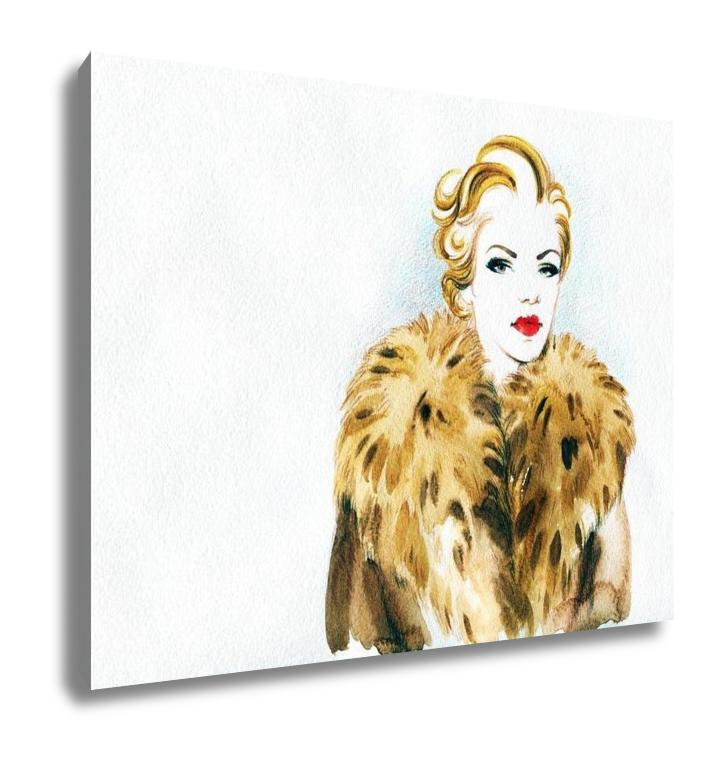 Gallery Wrapped Canvas, Abstract Watercolor Woman Portrait