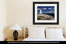 Load image into Gallery viewer, Framed Print, Peggys Cove Lighthouse