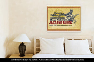 Gallery Wrapped Canvas, Jazz And Blues Musician
