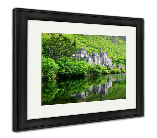 Framed Print, Kylemore Abbey Castle Galway Ireland