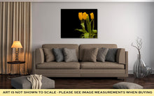 Load image into Gallery viewer, Gallery Wrapped Canvas, Yellow Tulips On A Dark