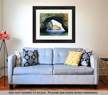 Load image into Gallery viewer, Framed Print, Los Arcos National Marine Park In Mexico Near Puerto Vallarta