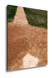 Gallery Wrapped Canvas, Homeplate On Baseball Field