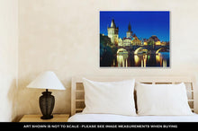 Load image into Gallery viewer, Gallery Wrapped Canvas, Charles Bridge In Sunset Time Prague Czech Republic