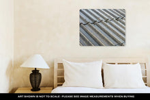 Load image into Gallery viewer, Metal Panel Print, Prague Streams Of Rain Water Pour Off Corrugated Roof