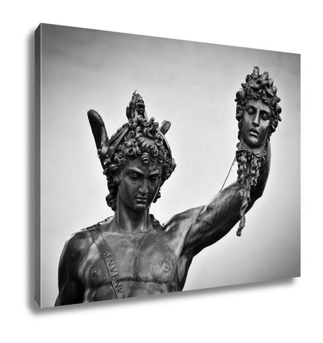 Gallery Wrapped Canvas, Ancient Style Sculpture Of Perseus With The Head Of MedUSA In Loggia Dei Lanzi