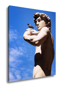 Gallery Wrapped Canvas, Sculpture Of David By Michelangelo Florence Italy