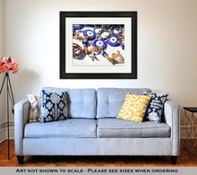 Load image into Gallery viewer, Framed Print, Istanbul Evil Eye Amulet In Shop