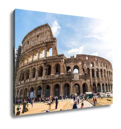 Gallery Wrapped Canvas, Colosseum In Rome Italy