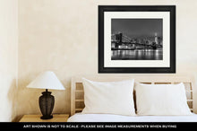 Load image into Gallery viewer, Framed Print, Brooklyn Bridge At Dusk New York City