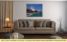 Load image into Gallery viewer, Gallery Wrapped Canvas, Looking Down Navy Pier On Sunny Day In Chicago