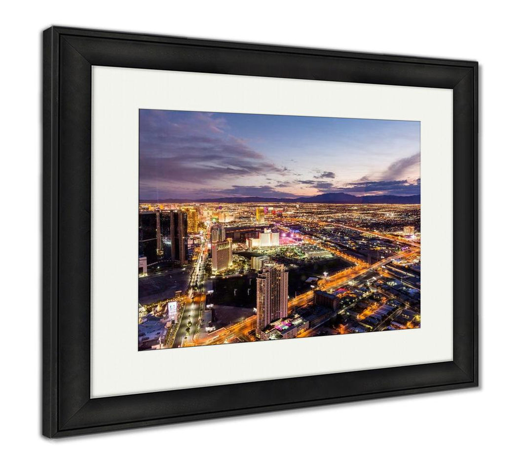 Framed Print, Las Vegas Strip