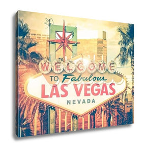 Gallery Wrapped Canvas, Vintage Las Vegas Photo