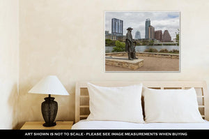 Gallery Wrapped Canvas, Status Of Stevie Ray Vaughan And Downtown Austin Texas