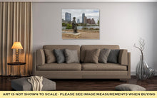 Load image into Gallery viewer, Gallery Wrapped Canvas, Status Of Stevie Ray Vaughan And Downtown Austin Texas