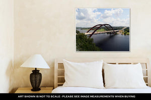 Gallery Wrapped Canvas, Austin 360 Bridge From An Artistic View