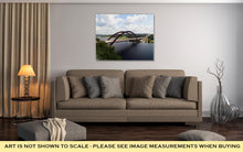 Load image into Gallery viewer, Gallery Wrapped Canvas, Austin 360 Bridge From An Artistic View