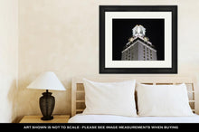 Load image into Gallery viewer, Framed Print, University Of Texas Clock Tower At Night
