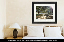Load image into Gallery viewer, Framed Print, Houston Discovery Green Park In Downtown Texas