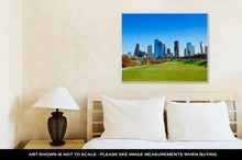 Load image into Gallery viewer, Gallery Wrapped Canvas, Houston Skyline In Sunny Day From Park Grass Of Texas USA