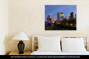 Gallery Wrapped Canvas, Houston Night Skyline
