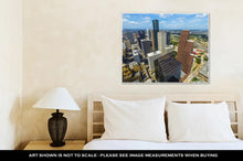 Load image into Gallery viewer, Gallery Wrapped Canvas, Aerial Of Modern Buildings In Downtown Houston
