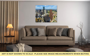 Gallery Wrapped Canvas, Aerial Of Modern Buildings In Downtown Houston