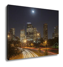 Load image into Gallery viewer, Gallery Wrapped Canvas, Houston Skyline At Night Texas