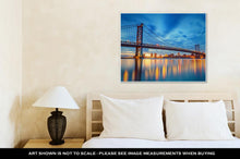 Load image into Gallery viewer, Gallery Wrapped Canvas, Ben Franklin Bridge In Philadelphiat Sunset
