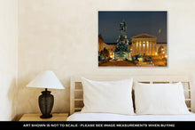 Load image into Gallery viewer, Gallery Wrapped Canvas, Philadelphiart Museum At Night As Famous City Attractions