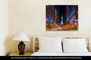 Gallery Wrapped Canvas, Philadelphicity Hall By Night Pennsylvaniusa