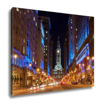 Load image into Gallery viewer, Gallery Wrapped Canvas, Philadelphicity Hall By Night Pennsylvaniusa
