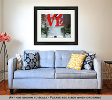 Load image into Gallery viewer, Framed Print, Love Park In Philadelphia