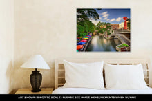 Load image into Gallery viewer, Gallery Wrapped Canvas, San Antonio Texas Uscityscape At Riverwalk