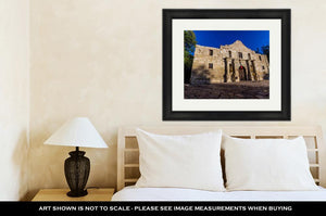 Framed Print, Interesting Perspective Of The Historic Alamo San Antonio Texas