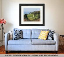 Load image into Gallery viewer, Framed Print, San Diego View From Torrey Pines Golf Course