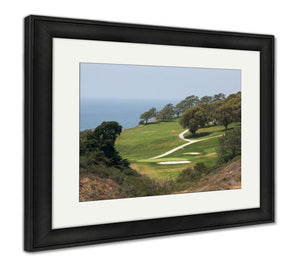 Framed Print, San Diego View From Torrey Pines Golf Course