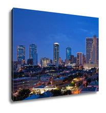 Load image into Gallery viewer, Gallery Wrapped Canvas, Dallas Fort Worth Texas At Night