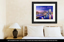 Load image into Gallery viewer, Framed Print, Jacksonville Floridusdowntown City Skyline