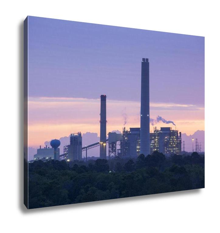 Gallery Wrapped Canvas, Jacksonville Industrial Sunrise